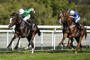Ryan Moore riding Pablo Escobarr (L) win The Heineken 0.0%/EBF Future Stayers' Maiden Stakes at Goodwood Racecourse on September 26, 2018 in Chichester, United Kingdom.