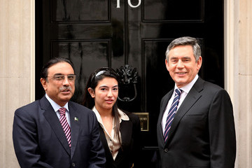 Asifa Bhutto Zardari Gordon Brown Holds Talks With Pakistan's President Asif Ali Zardari