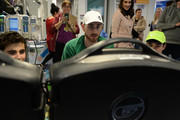 Gordon Hayward plays video games with patients at Boston Children's Hospital for Extra Life November 2, 2019 in Boston, Massachusetts.
