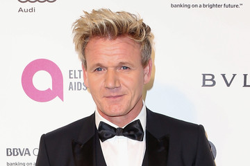 Gordon Ramsay Celebrities Attend an Oscar Viewing Party