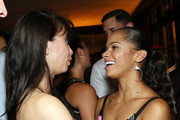 Georgina Pazcoguin (L) and Misty Copeland attend Gotham Magazine Celebrates Misty Copeland's Broadway Debut In On The Town on August 25, 2015 in New York City.