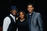 (L-R) Actor Taye Diggs, Tiffany Jones and Robert Jones attend the Gotham Men's Issue Celebration at the BMW of Manhattan Showroom on November 16, 2017 in New York City.