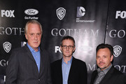 "(L-R) Screenwriter Bruno Heller,  Executive Producer John Stephens and Executive Producer/Director Danny Cannon attend the ""Gotham"" series premiere at The New York Public Library on September 15, 2014 in New York City."