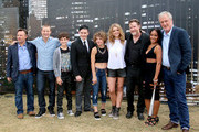 "(L-R) Writer/Producer Danny Cannon, actors Ben McKenzie, David Mazouz, Robin Lord Taylor, Camren Bicondova, Erin Richards, Donal Logue, Jada Pinkett Smith, and writer/producer Bruno Heller attend ""Gotham"" Zip Line during Comic-Con International 2014 on July 26, 2014 in San Diego, California."