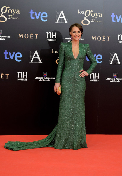 Paula Echevarria attends Goya Cinema Awards 2013 at Centro de Congresos Principe Felipe on February 17, 2013 in Madrid, Spain.