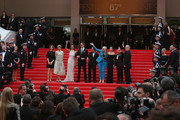 "(R-L) Official Selection Jury members Sofia Coppola, Leila Hatami, Carole Bouquet, Nicolas Winding Refn, Gael Garcia Bernal, Jury President Jane Campion, jury members Do-yeon Jeon, Zhangke Jia and Film Festival Director Thierry Fremaux attend the Opening ceremony and the ""Grace of Monaco"" Premiere during the 67th Annual Cannes Film Festival on May 14, 2014 in Cannes, France."