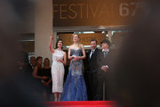 """Paz Vega, Nicole Kidman, Tim Roth and director Olivier Dahan attend the Opening ceremony and the """"Grace of Monaco"""" Premiere during the 67th Annual Cannes Film Festival on May 14, 2014 in Cannes, France."""