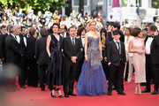 """(L-R) Jeanne Balibar, Tim Roth, Nicole Kidman, Olivier Dahan and Paz Vega attend the Opening ceremony and the """"Grace of Monaco"""" Premiere during the 67th Annual Cannes Film Festival on May 14, 2014 in Cannes, France."""