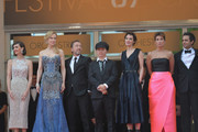 """Actresses Paz Vega, Nicole Kidman, actor Tim Roth, director Olivier Dahan and guests the Opening ceremony and the """"Grace of Monaco"""" Premiere during the 67th Annual Cannes Film Festival on May 14, 2014 in Cannes, France."""