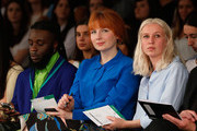 Alice Levine attends the Nottingham Trent University show on day 3 of Graduate Fashion Week at The Old Truman Brewery on June 1, 2015 in London, England.