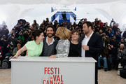 (L-R) Director Rebecca Zlotowski, actor Tahar Rahim, actress Lea Seydoux, actress Camille Lellouche and actor Denis Menochet attends the 'Grand Central' Photocall during The 66th Annual Cannes Film Festival at Palais des Festivals on May 18, 2013 in Cannes, France.