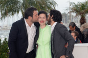 (L-R) Actor Denis Menochet, Director Rebecca Zlotowski and actor Tahar Rahim attend the 'Grand Central' Photocall during The 66th Annual Cannes Film Festival at Palais des Festivals on May 18, 2013 in Cannes, France.
