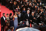 (L-R) Actor Tahar Rahim, actress Camille Lellouche, director Rebecca Zlotowski, actress Lea Seydoux and actor Denis Menochet attends 'Grand Central' Premiere during the 66th Annual Cannes Film Festival at Palais des Festivals on May 18, 2013 in Cannes, France.