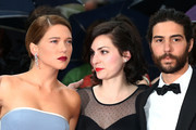 """(L-R) Actors Denis Menochet, Lea Seydoux, director Rebecca Zlotowski and actor Tahar Rahim attends """"Jimmy P. (Psychotherapy Of A Plains Indian)"""" Premiere during the 66th Annual Cannes Film Festival at Grand Theatre Lumiere on May 18, 2013 in Cannes, France."""
