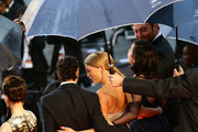 (L-R) Actress Camille Lellouche, actor Tahar Rahim, actress Lea Seydoux, director Rebecca Zlotowski and actor Denis Menochet attend 'Grand Central' Premiere during the 66th Annual Cannes Film Festival at Palais des Festivals on May 18, 2013 in Cannes, France.