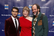 Kumail Nanjiani, Emily V. Gordon and Luca Guadagnino attend the 2017 Gotham Awards sponsored by Greater Ft. Lauderdale Tourism at Cipriani, Wall Street on November 27, 2017 in New York City.
