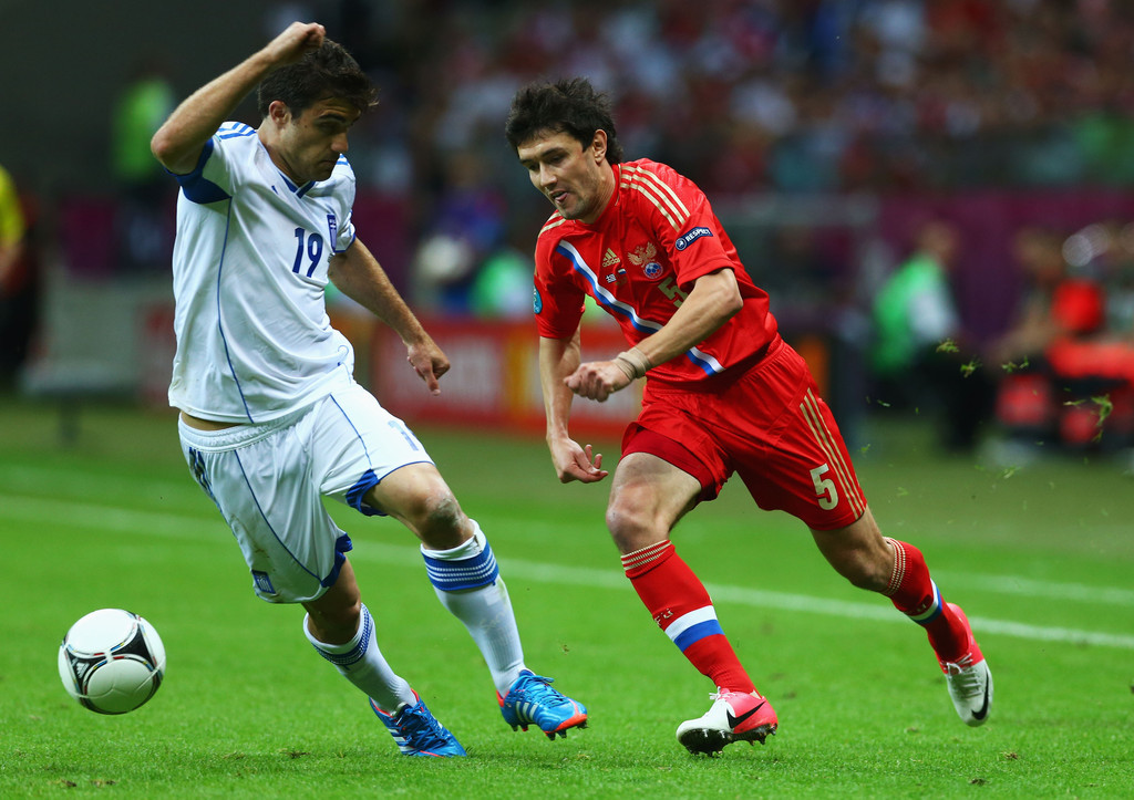 Sokratis papastathopoulos in greece v russia group a for Euro 2012 groupe