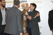 """Pixie Lott and James Blunt attend the """"Greed"""" European Premiere during the 63rd BFI London Film Festival at the Odeon Luxe Leicester Square on October 09, 2019 in London, England."""
