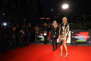 """Pixie Lott attends the """"Greed"""" European Premiere during the 63rd BFI London Film Festival at the Odeon Luxe Leicester Square on October 09, 2019 in London, England."""