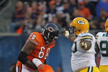 Frank Omiyale Green Bay Packers v Chicago Bears