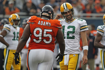 Aaron Rodger Green Bay Packers v Chicago Bears