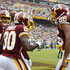 Jamison Crowder Photos - Jamison Crowder #80 of the Washington Redskins celebrates with Alex Smith #11 and Jordan Reed #86 after a touchdown in the second quarter against the Green Bay Packers at FedExField on September 23, 2018 in Landover, Maryland. - Green Bay Packers vs. Washington Redskins