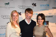 (L-R) Colleen deVeer, Calum Worthy and Wendy Stapleton Reyes attend Greenwich Film Festival 2015 - Changemaker Honoree Gala at L'Escale Restaurant on June 6, 2015 in Greenwich, Connecticut.