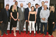 (L-R) Gary Spitalnik, Colleen deVeer, Allan Houston, Ryen Russillo, Mark Teixeira, Wendy Stapleton Reyes, Mike Greenberg, Patrick Kerney,  Cary Woods and  Ginger Stickel attend Greenwich Film Festival 2015 - Sports Guys On Sports Movies Premiere & After Party at Cole Auditorium at Greenwich Library on June 4, 2015 in Greenwich, Connecticut.