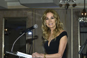 Master of Ceremonies Kathie Lee Gifford speaks on stage during The Greenwich International Film Festival 5th Annual Changemaker Gala Honoring Eva Longoria Baston and Local Changemaker Bobby Walker at  L'Escale on May 30, 2019 in Greenwich, Connecticut.