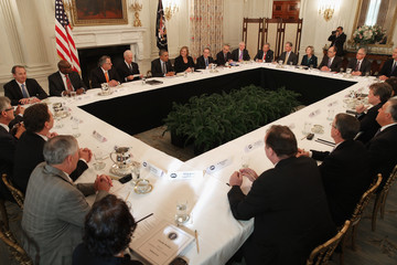 Greg Brown Barack Obama Meets with Business Leaders