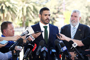 South Sydney Rabbitohs captain Greg Inglis speaks to the media during a press conference at Redfern Oval on October 2, 2018 in Sydney, Australia. Inglis was yesterday charged with a drink driving offence.