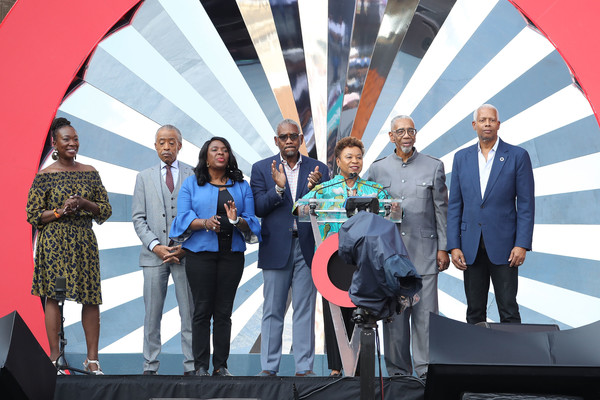 Global Citizen Festival: Mandela 100 - Show [red,event,stage equipment,technology,businessperson,team,award,employment,company,competition,barbara lee,stage,johannesburg,south africa,fnb stadium,global citizen festival: mandela 100 - show]