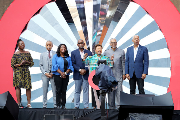 Global Citizen Festival: Mandela 100 - Show [red,social group,event,community,youth,stage equipment,technology,fun,team,architecture,barbara lee,stage,johannesburg,south africa,fnb stadium,global citizen festival: mandela 100 - show]