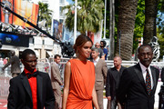 (L-R) Actor Souleymane Deme, actress Anais Monory and director Mahamat-Saleh Haroun attend the 'Grigris' Premiere during the 66th Annual Cannes Film Festival on May 22, 2013 in Cannes, France.  (Photo by Stuart C. Wilson/Getty