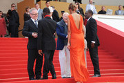 (L-R) Actor Souleymane Deme, actress Anais Monory and director Mahamat-Saleh Haroun attend the 'Grigris' Premiere during the 66th Annual Cannes Film Festival on May 22, 2013 in Cannes, France.