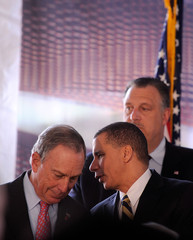 Michael Bloomberg David Paterson Groundbreaking Ceremony Of The Barclays Center At Atlantic Yards