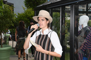 Marie Nasemann speaks the GrowHouses Reception during the Berlin Fashion Week Spring/Summer 2020 at ewerk on July 02, 2019 in Berlin, Germany.