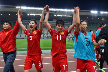 Gu Ya Sha China v South Korea - AFC Women's Olympic Final Qualification Round