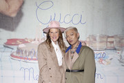 Anna Dello Russo and Bryanboy arrive at the Gucci show during Milan Meanswear Fashion Week Fall/Winter 2020/21 on January 14, 2020 in Milan, Italy.