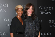 Singer Mary J. Blige and Gucci President Daniella Vitale attend the Gucci cocktail party for Ffawn at Gucci Fifth Avenue on September 16, 2009 in New York City.