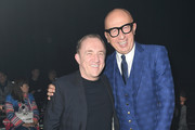 (L-R) Francois-Henri Pinault and Marco Bizzarri are seen on Gucci Front Row during Milan Fashion Week Fall/Winter 2020/21 on February 19, 2020 in Milan, Italy.