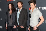 (L-R)  Recording artists Nathan Followill, Caleb Followill and Jared Followill of the band Kings Of Leon arrive at the Gucci and RocNation Pre-GRAMMY Brunch at the Soho House on February 12, 2011 in Los Angeles, California.