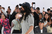 Designer Alessandro Michele acknowledges the applause of the audience  at the Gucci Spring/Summer 2020 fashion show during Milan Fashion Week on September 22, 2019 in Milan, Italy.