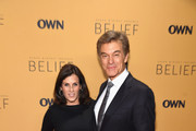 """Surgeon, author Dr. Mehmet Oz and Lisa Oz  attends the """"Belief"""" New York premiere at TheTimesCenter on October 14, 2015 in New York City."""