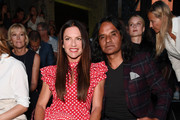 Christine Neubauer and Jose Campos attend the Guido Maria Kretschmer show during the Berlin Fashion Week Spring/Summer 2019 at ewerk on July 2, 2018 in Berlin, Germany.