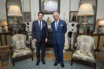Guiseppe Conte NATO Leaders Summit Takes Place In The UK - Day One