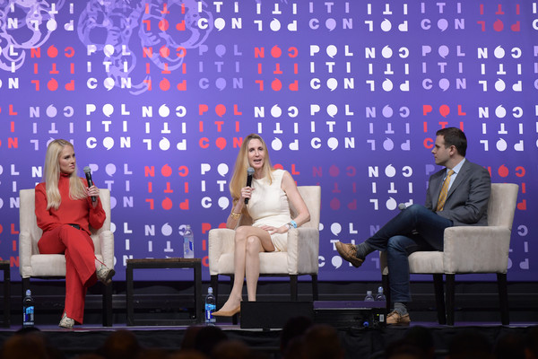 Politicon 2019 – Day 1 [event,television program,talent show,performance,news conference,stage,world,politicon,l-r,nashville,tennessee,music city center,tomi lahren,guy benson,ann coulter]