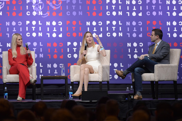 Politicon 2019 – Day 1 [television program,event,performance,talent show,performing arts,heater,stage,politicon,l-r,nashville,tennessee,music city center,tomi lahren,guy benson,ann coulter]