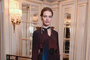 Natalia Vodianova attends Gyunel presentation at the Hotel Ritz on January 22, 2019 in Paris, France.