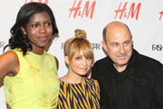 """(L - R) Nicole Christie, Nicole Richie, and John Varvatos attend the NBC """"Fashion Star"""" event at the H&M Flagship Store on April 24, 2012 in New York City."""